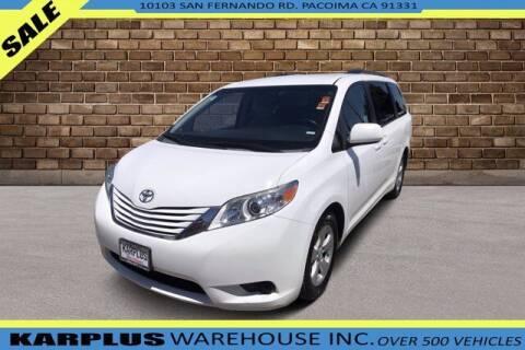 2016 Toyota Sienna for sale at Karplus Warehouse in Pacoima CA