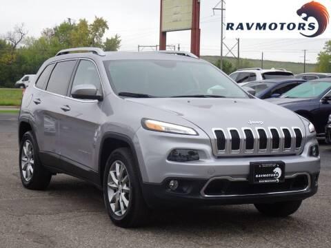 2018 Jeep Cherokee for sale at RAVMOTORS in Burnsville MN