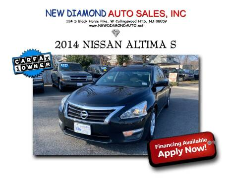 2014 Nissan Altima for sale at New Diamond Auto Sales, INC in West Collingswood NJ