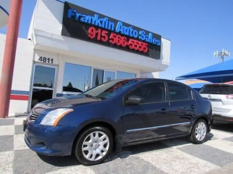 2012 Nissan Sentra for sale at Franklin Auto Sales in El Paso TX