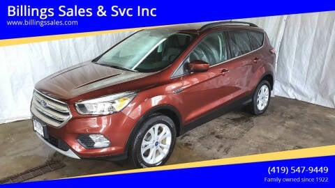 2018 Ford Escape for sale at Billings Sales & Svc Inc in Clyde OH