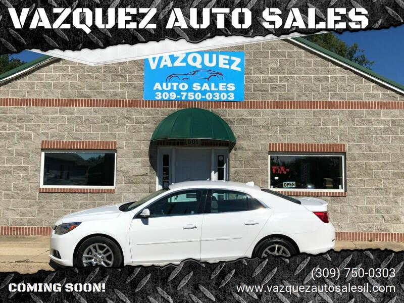 2014 Chevrolet Malibu for sale at VAZQUEZ AUTO SALES in Bloomington IL