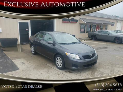 2009 Toyota Corolla for sale at Exclusive Automotive in West Chester OH