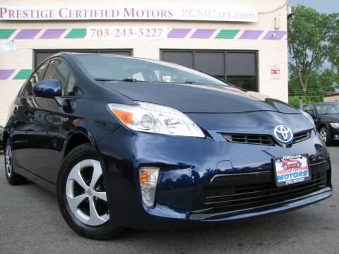 2014 Toyota Prius for sale at Prestige Certified Motors in Falls Church VA