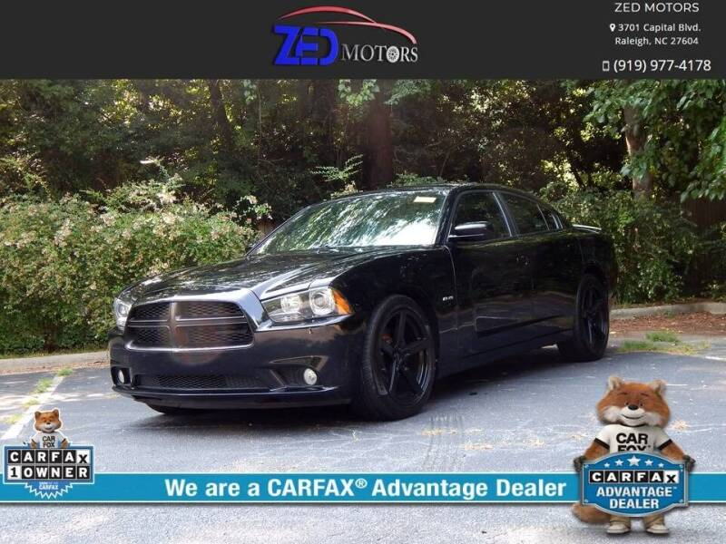 2013 Dodge Charger for sale at Zed Motors in Raleigh NC