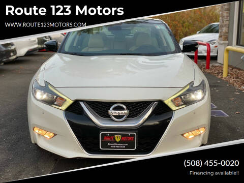 2016 Nissan Maxima for sale at Route 123 Motors in Norton MA