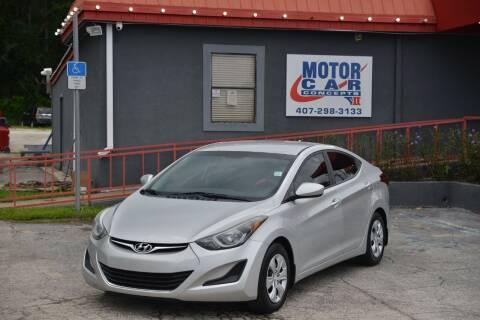 2016 Hyundai Elantra for sale at Motor Car Concepts II - Kirkman Location in Orlando FL