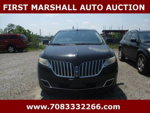 2011 Lincoln MKX for sale at First Marshall Auto Auction in Harvey IL