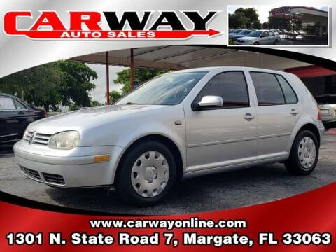2004 Volkswagen Golf for sale at CARWAY Auto Sales in Margate FL
