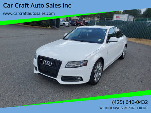 2009 Audi A4 for sale at Car Craft Auto Sales Inc in Lynnwood WA