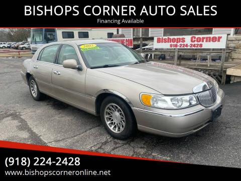 2002 Lincoln Town Car for sale at BISHOPS CORNER AUTO SALES in Sapulpa OK