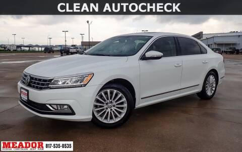 2016 Volkswagen Passat for sale at Meador Dodge Chrysler Jeep RAM in Fort Worth TX