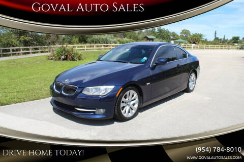 2013 BMW 3 Series for sale at Goval Auto Sales in Pompano Beach FL