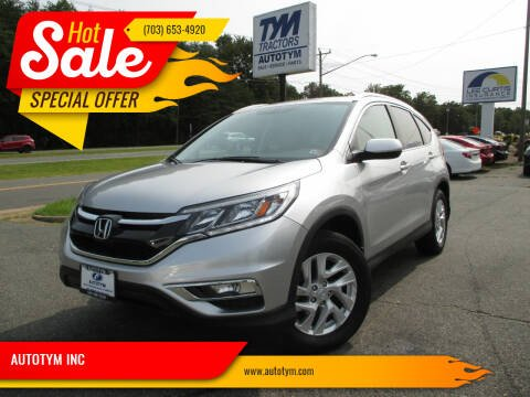 2016 Honda CR-V for sale at AUTOTYM INC in Fredericksburg VA