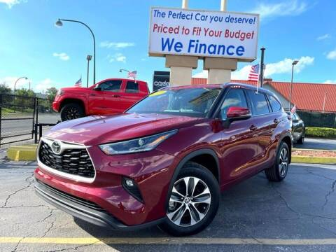 2021 Toyota Highlander for sale at American Financial Cars in Orlando FL