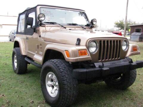 1999 Jeep Wrangler for sale at CANTWEIGHT CLASSICS in Maysville OK