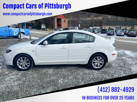 2008 Mazda MAZDA3 for sale at Compact Cars of Pittsburgh in Pittsburgh PA