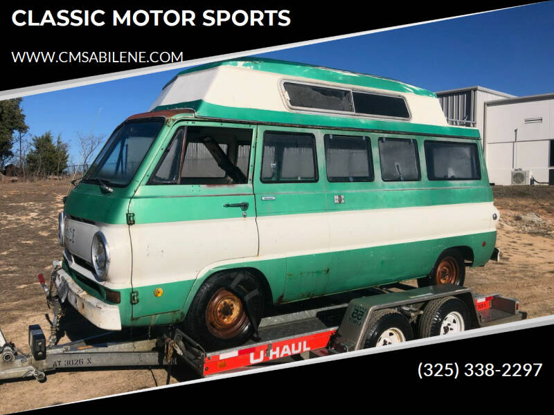1969 Dodge Sportsman FAMILY VAN  for sale at CLASSIC MOTOR SPORTS in Winters TX