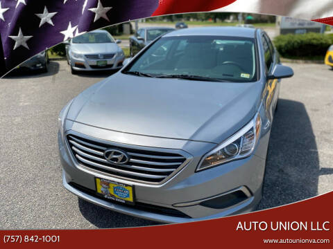 2017 Hyundai Sonata for sale at Auto Union LLC in Virginia Beach VA