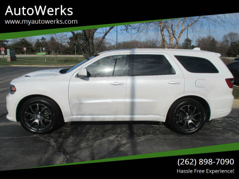 2018 Dodge Durango for sale at AutoWerks in Sturtevant WI