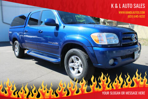 2005 Toyota Tundra for sale at K & L Auto Sales in Saint Paul MN