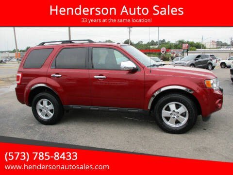 2011 Ford Escape for sale at Henderson Auto Sales in Poplar Bluff MO