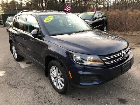 2015 Volkswagen Tiguan for sale at TOLLAND CITGO AUTO SALES in Tolland CT
