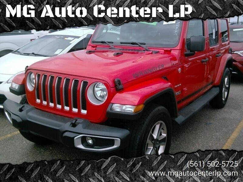 2018 Jeep Wrangler Unlimited for sale at MG Auto Center LP in Lake Park FL
