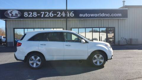 2012 Acura MDX for sale at AutoWorld of Lenoir in Lenoir NC