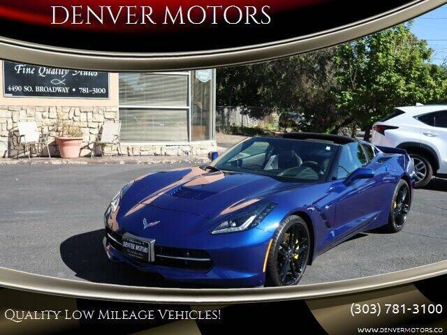 2017 Chevrolet Corvette for sale at DENVER MOTORS in Englewood CO