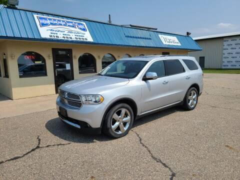 2011 Dodge Durango for sale at Dukes Auto Sales in Glyndon MN