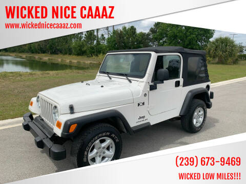2005 Jeep Wrangler for sale at WICKED NICE CAAAZ in Cape Coral FL