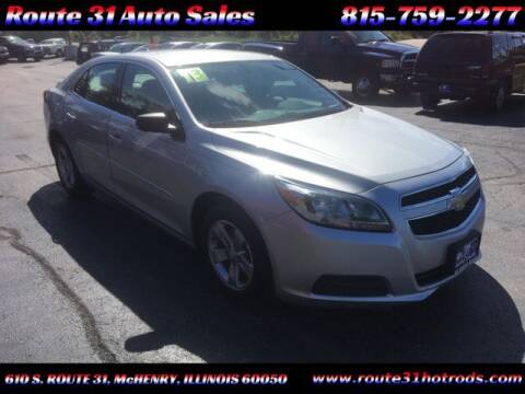 2013 Chevrolet Malibu for sale at ROUTE 31 AUTO SALES in McHenry IL