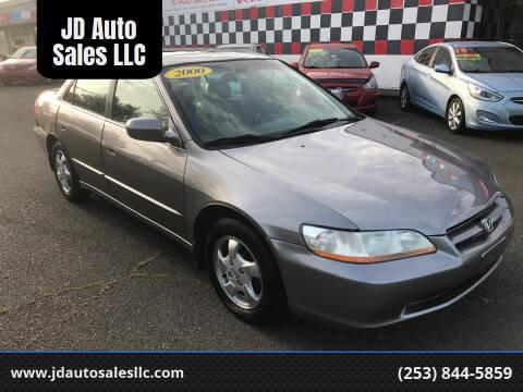 2000 Honda Accord for sale at JD Auto Sales LLC in Fife WA