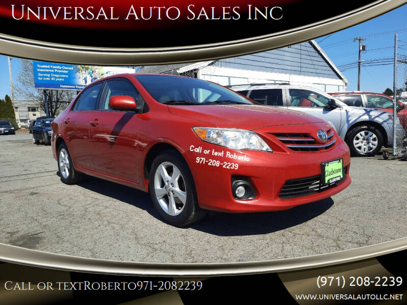 2013 Toyota Corolla for sale at Universal Auto Sales Inc in Salem OR