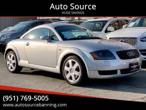 2002 Audi TT for sale at Auto Source in Banning CA