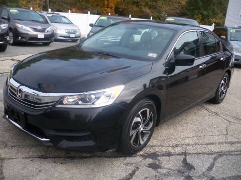 2016 Honda Accord for sale at Charlies Auto Village in Pelham NH