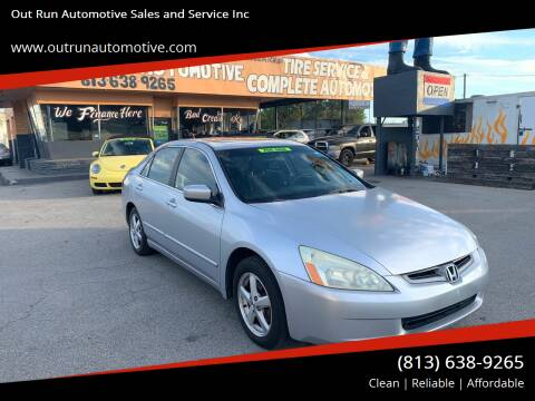 2004 Honda Accord for sale at Out Run Automotive Sales and Service Inc in Tampa FL