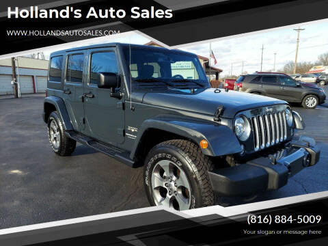 2018 Jeep Wrangler JK Unlimited for sale at Holland's Auto Sales in Harrisonville MO