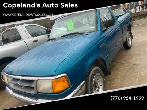 1995 Ford Ranger for sale at Copeland's Auto Sales in Union City GA