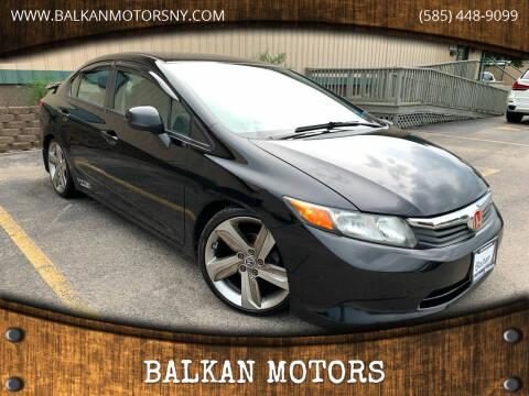2012 Honda Civic for sale at BALKAN MOTORS in East Rochester NY