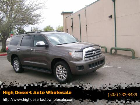 2012 Toyota Sequoia for sale at High Desert Auto Wholesale in Albuquerque NM