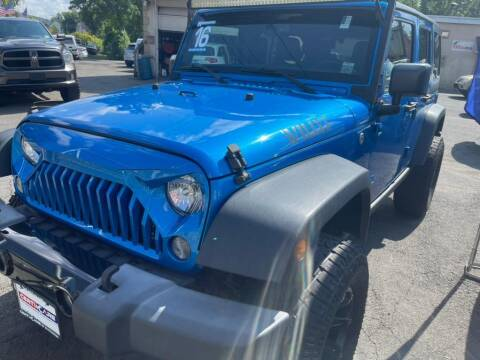 2016 Jeep Wrangler Unlimited for sale at Car VIP Auto Sales in Danbury CT