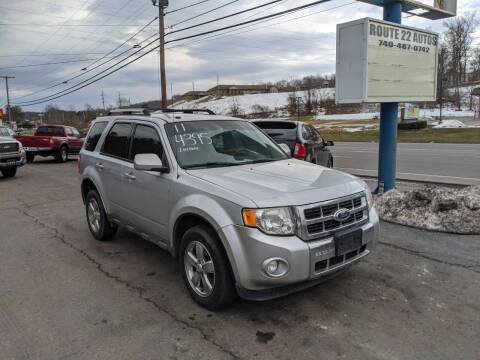 2011 Ford Escape for sale at Route 22 Autos in Zanesville OH