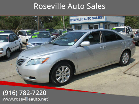 2009 Toyota Camry Hybrid for sale at Roseville Auto Sales in Roseville CA