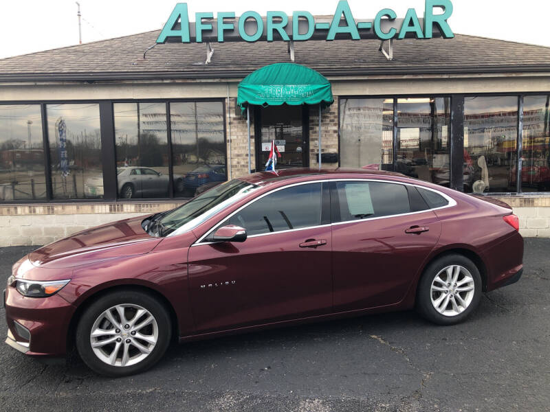 2016 Chevrolet Malibu for sale at Afford-A-Car in Moraine OH