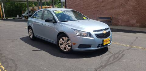 2012 Chevrolet Cruze for sale at Exxcel Auto Sales in Ashland MA