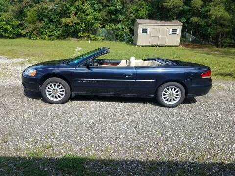 2001 Chrysler Sebring for sale at MIKE B CARS LTD in Hammonton NJ