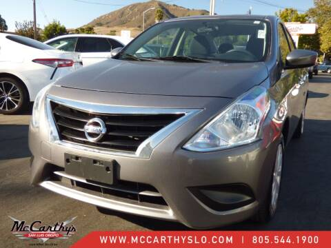 2019 Nissan Versa for sale at McCarthy Wholesale in San Luis Obispo CA