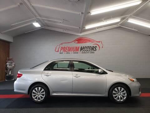 2012 Toyota Corolla for sale at Premium Motors in Villa Park IL